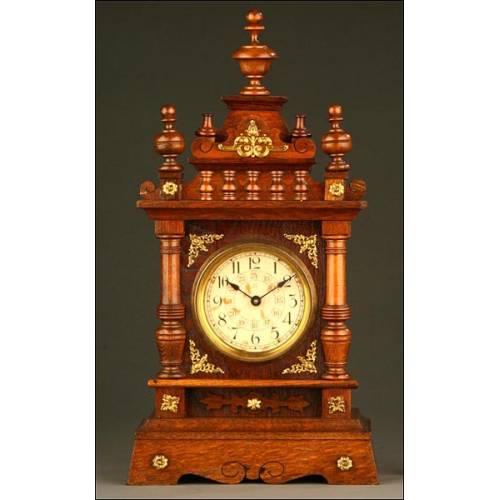 Reloj de Sobremesa Musical Junghans, Alemania, Primer Tercio S. XX