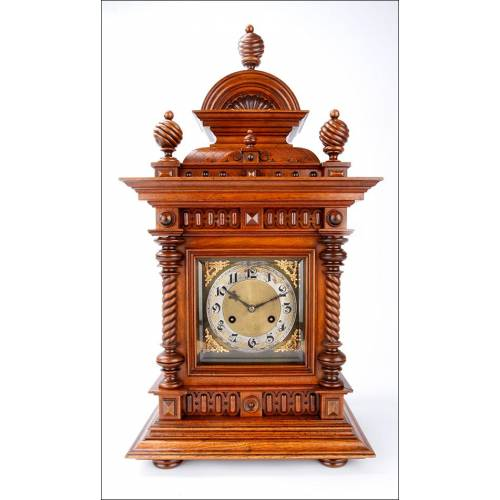 Antiguo Reloj de Sobremesa Junghans en Magnífico Estado de Conservación. Alemania, 1900