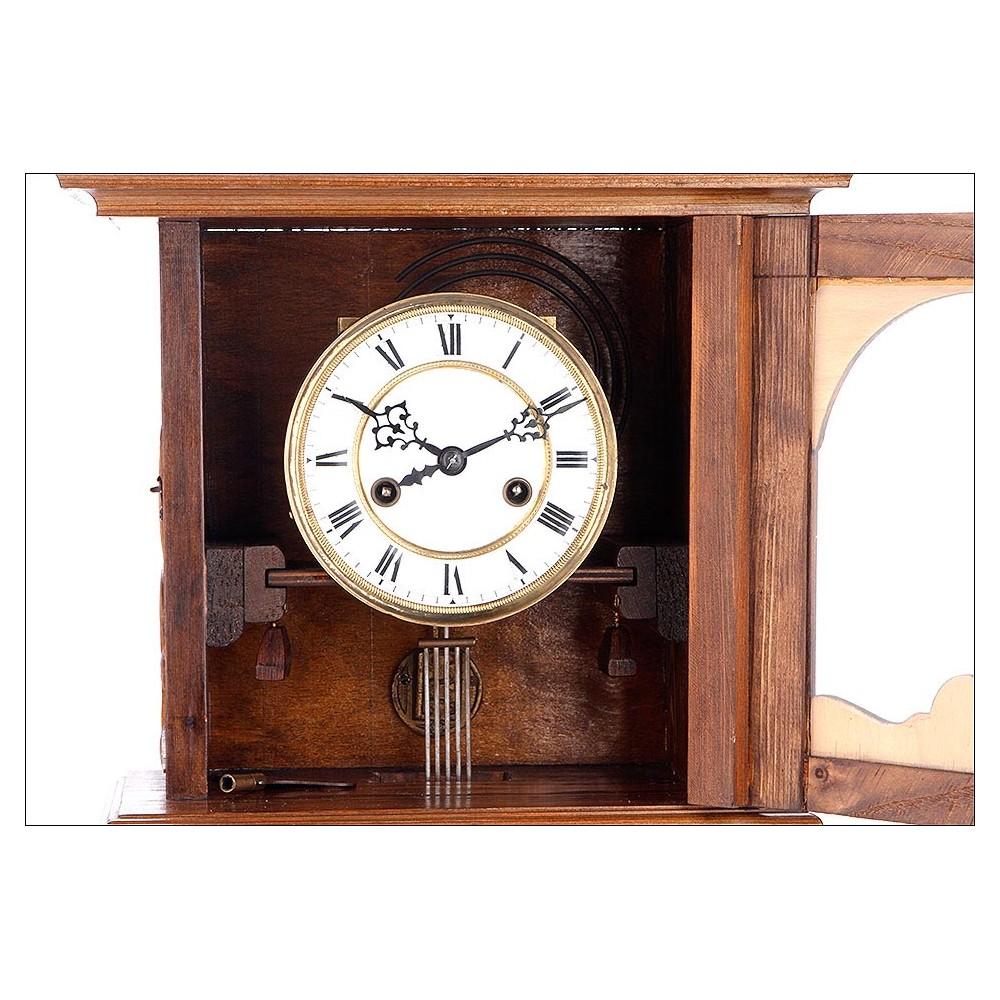 Antiguo reloj de sobremesa y pared en perfecto funcionamiento alemania 1900 - Relojes pared antiguos ...