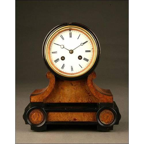 Pequeño Reloj de Tambor Japy Fils. Años 20-30. Funcionando.