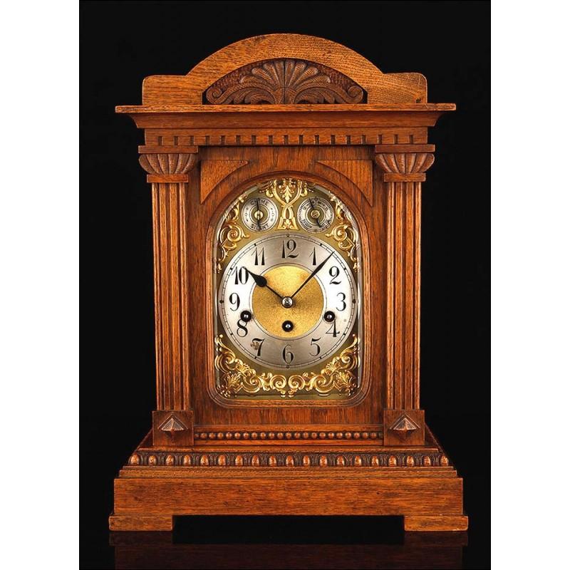 Reloj Bracket de Sobremesa Junghans Con Soneria Westminster en Perfecto Estado. Alemania, 1900. Funciona como Nuevo