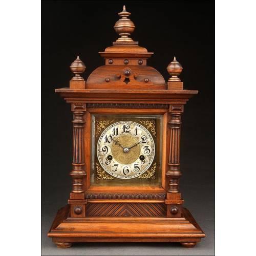 Importante Reloj de Sobremesa Junghans Fabricado Circa 1890. En Excelente Estado y Funcionando