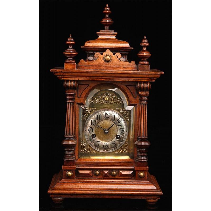 Precioso Reloj de Sobremesa Junghans Funcionando Muy Bien. Alemania, Circa 1890