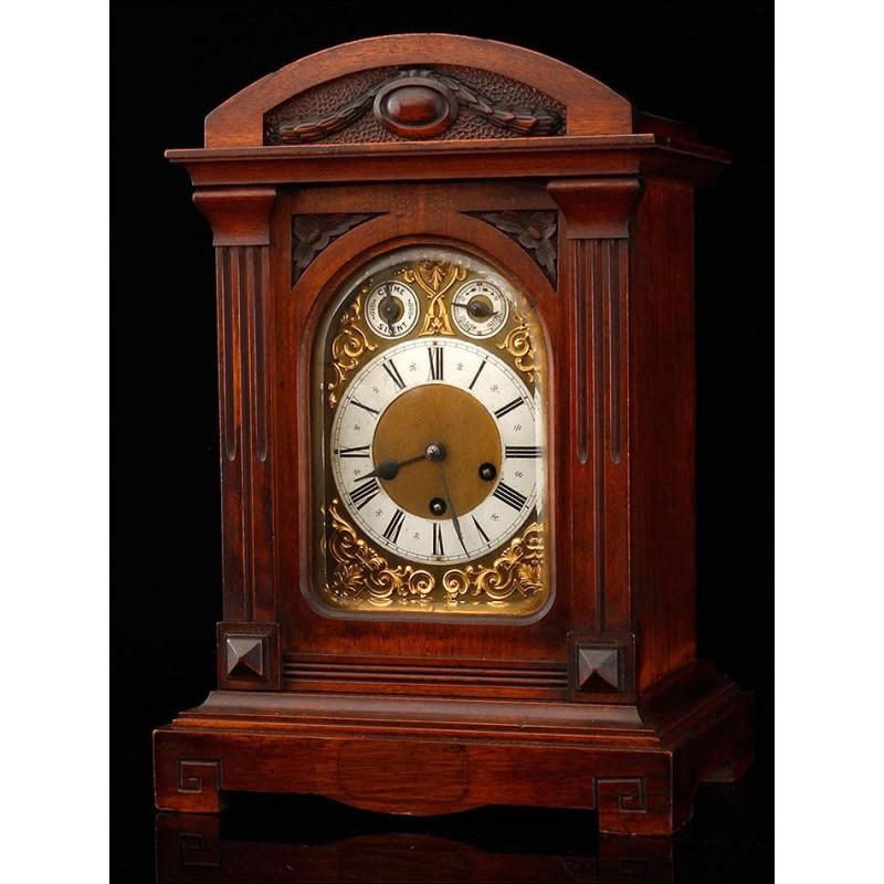 Bello Reloj de Sobremesa Junghans con Sonería Westminster. Alemania, 1900