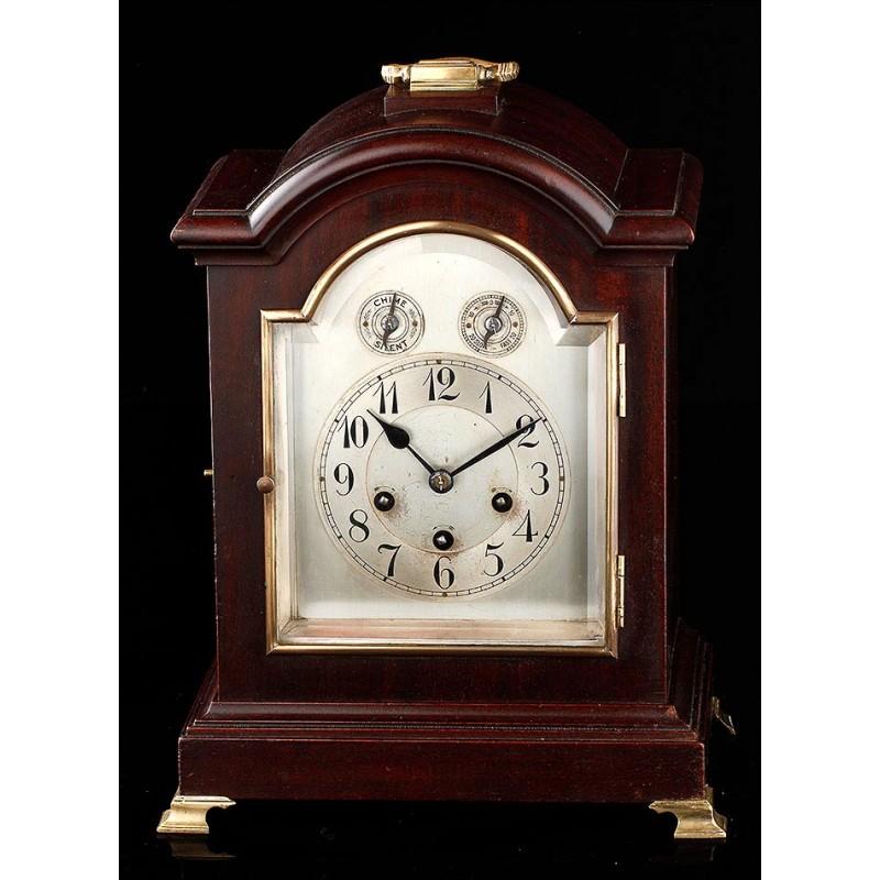 Elegante Reloj de Sobremesa Junghans con Sonería Westminster. Alemania, 1900