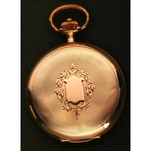 Reloj de Bolsillo en Oro Macizo de la Union Horlogere. Suiza, 1900