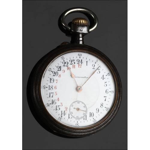 Reloj Veinticuatro Horas Fabricado en 1910. Pieza Exclusiva y Original. Bien Conservado y Funcionando