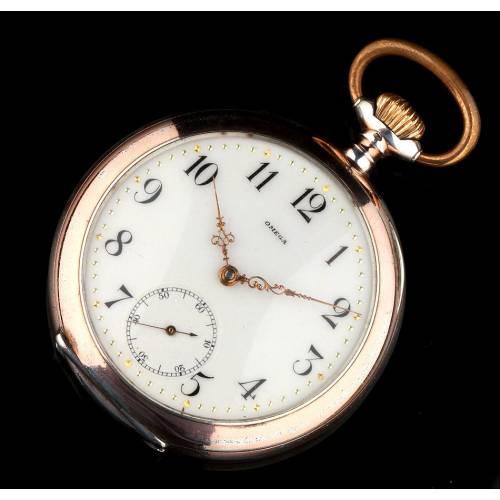 Reloj de Lujo Omega Fabricado en Plata Maciza en 1901. Muy Bien Conservado y Funcionando
