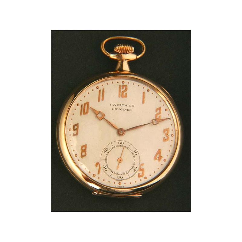 Raro Reloj de Bolsillo Longines Fairchild. 1920