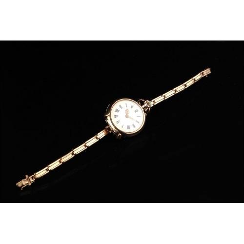 Reloj de Bolsillo Chapado Oro con Opción de Pulsera. Año 1890. Modelo de Señora Bien Conservado