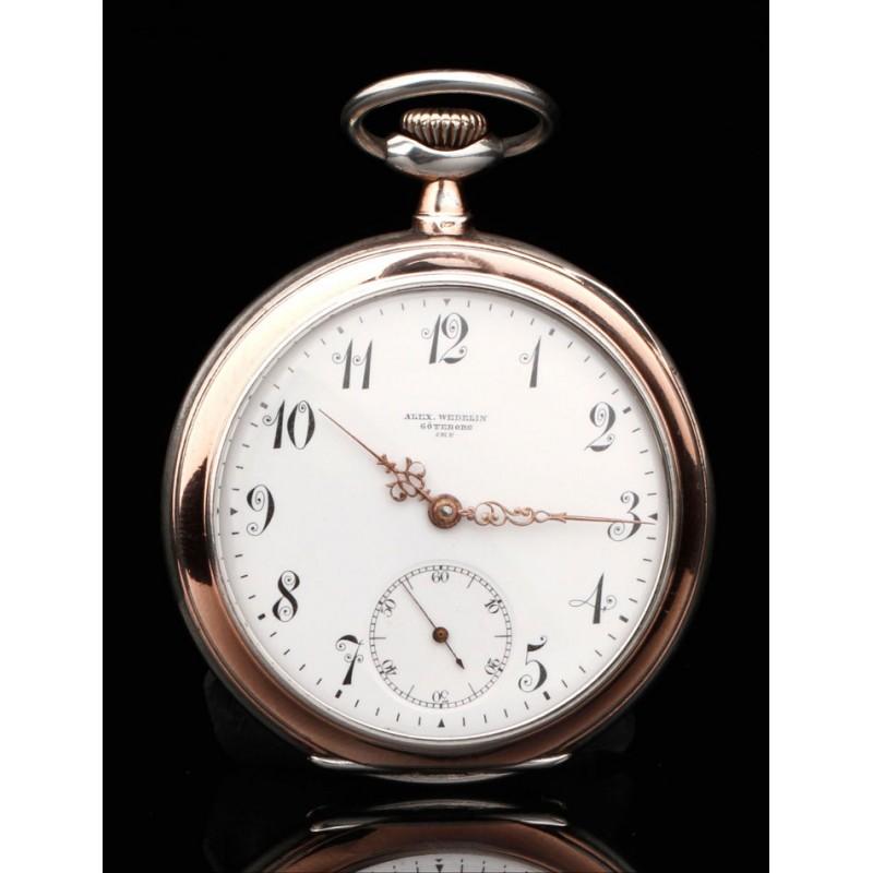 Precioso Reloj Omega Fabricado en Plata Maciza. Año 1910. En Buen Estado de Conservación y Funcionando
