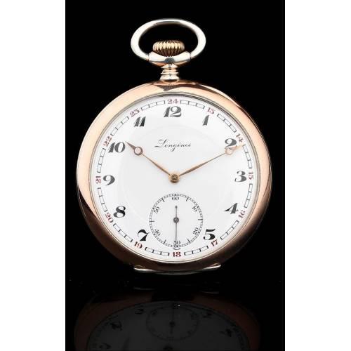 Elegante Reloj Longines de Plata Maciza, Fabricado en  Suiza en el año 1930. Funcionando Perfectamente