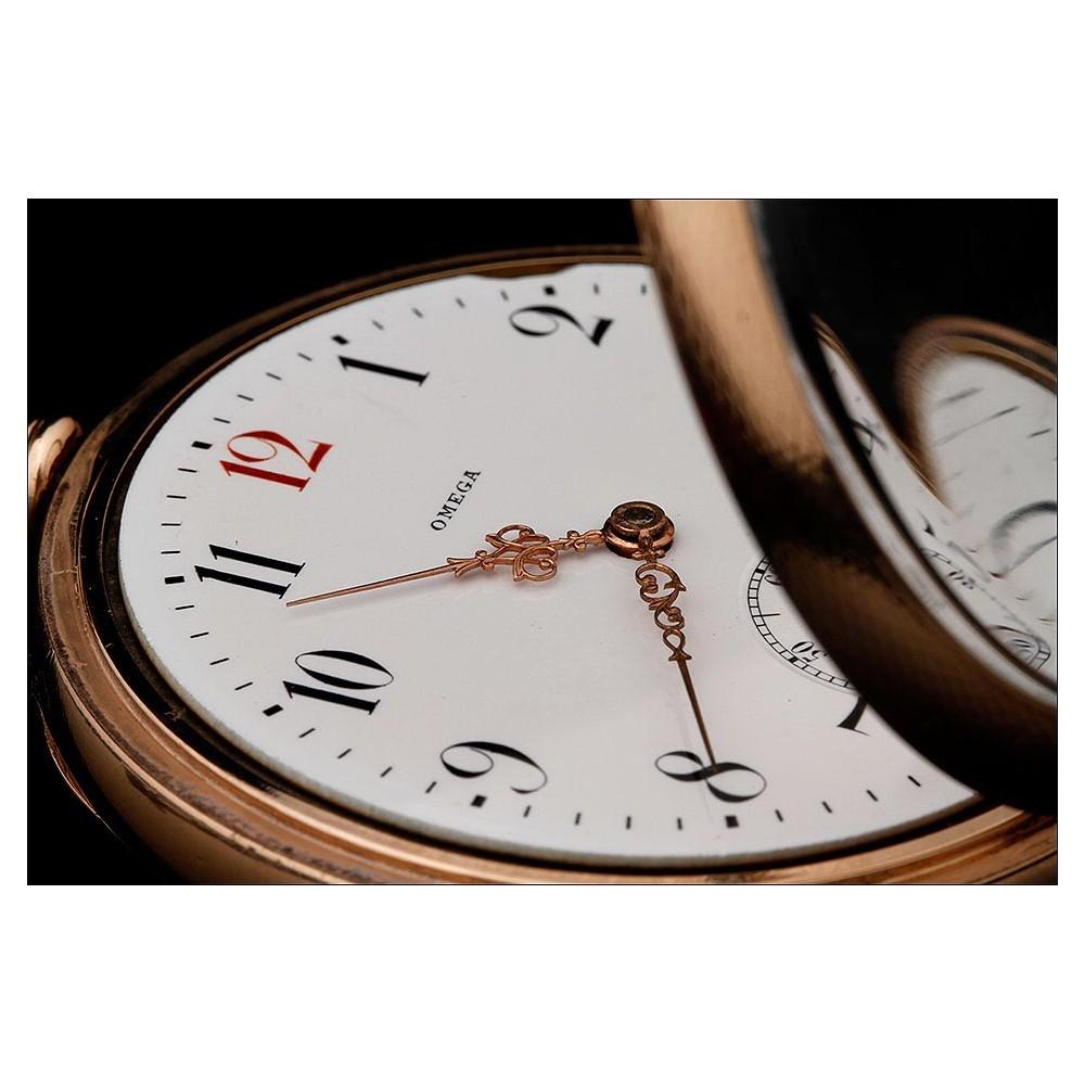 d9f6114e7 Precioso Reloj de Bolsillo Omega Chapado en Oro. Año 1920. Muy Bien  Conservado y Funcionando