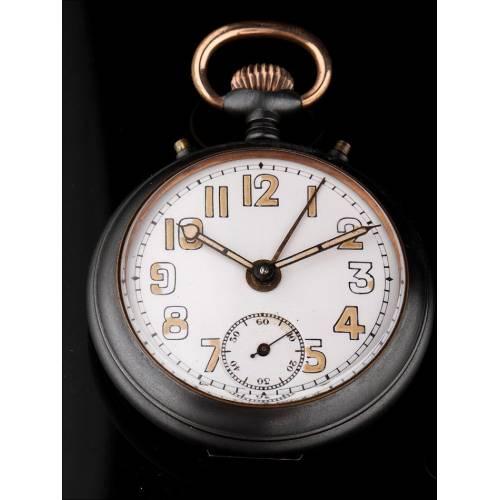Raro Reloj Despertador de Bolsillo Junghans. Años 20 del Siglo XX. Funcionando y Firmado