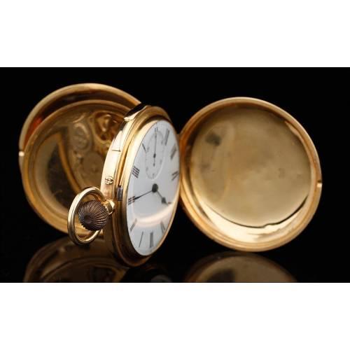 Antiguo Reloj de Bolsillo en Oro de 18K. Sonería a Cuartos. Circa 1900