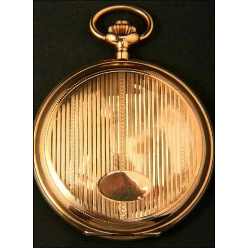 Bonito reloj de bolsillo en oro macizo de 14K. 15 rubíes