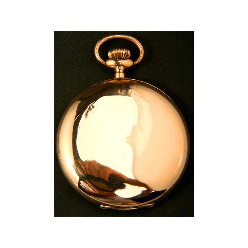 Reloj de bolsillo en oro macizo. Antiguo, circa 1910. 50 mm