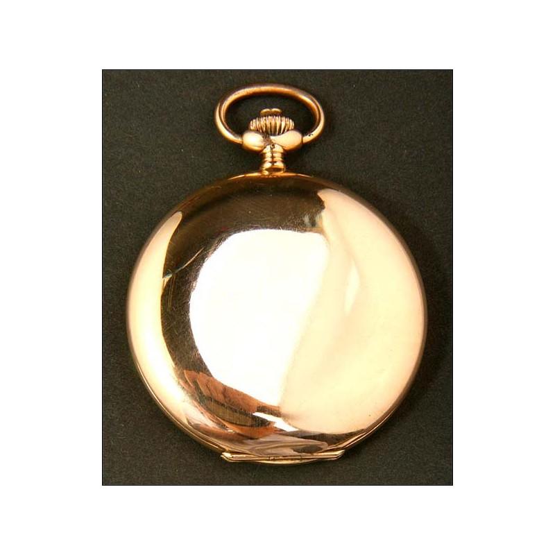 Reloj de bolsillo en oro macizo. Antiguo, circa 1920. 50 mm