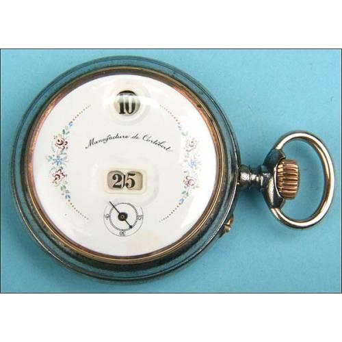 Reloj de bolsillo digital con segundero
