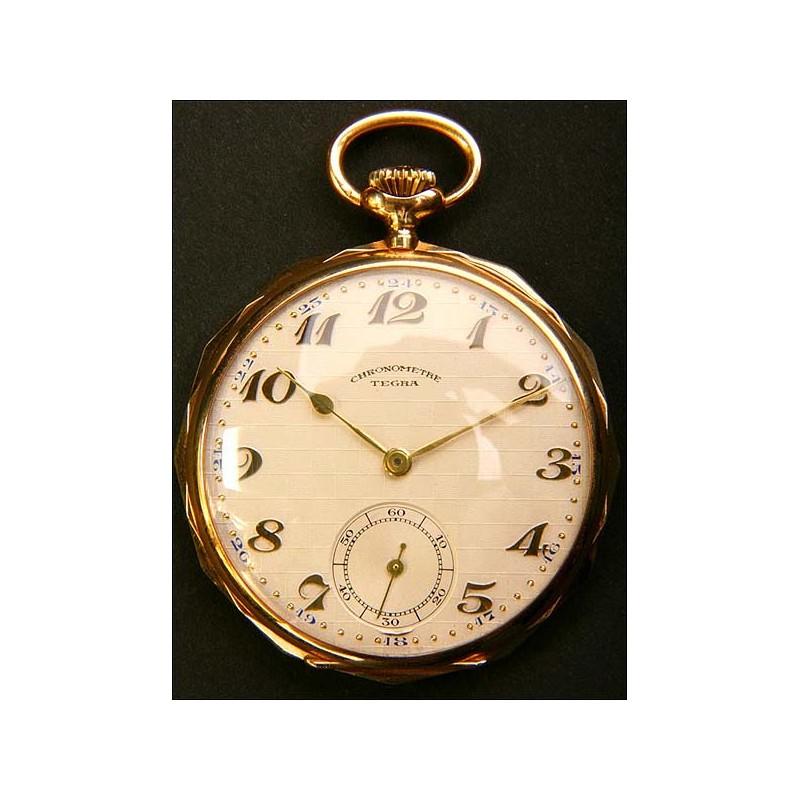 Reloj de bolsillo en Oro macizo de 14 K