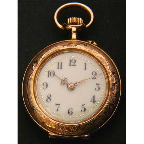 Reloj de bolsillo en Oro macizo de 14K. 29 mm