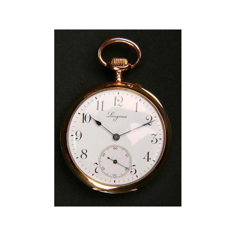Reloj de bolsillo Longines en Oro macizo de 18 K