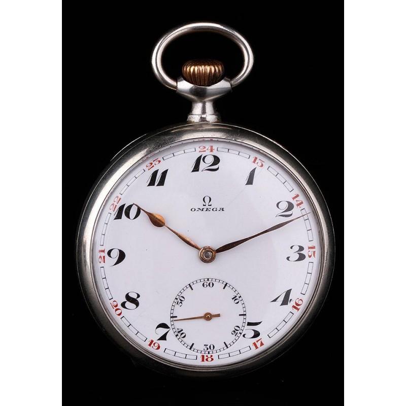 Antiguo Reloj de Bolsillo Omega, Elegante y con Clase. Suiza, 1930