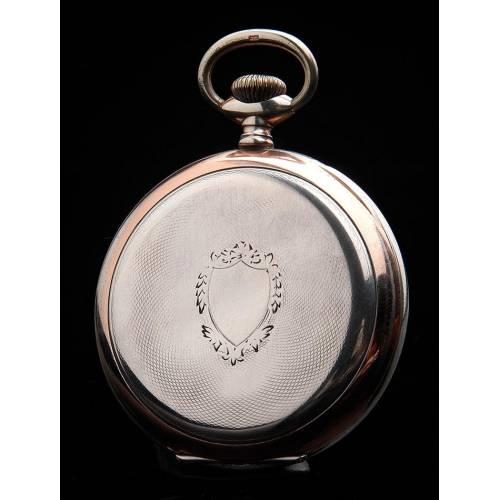 Bello Reloj de Bolsillo de Plata Maciza Funcionando Muy Bien. Suiza, 1925