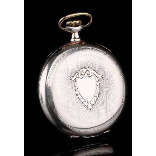 Magnífico Reloj de Bolsillo Omega en Plata Maciza. Suiza, 1926