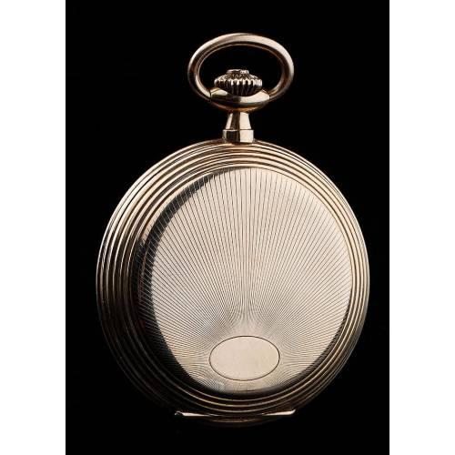 Atractivo Reloj de Bolsillo Triumphator Chapado en Oro. Alemania, Años 30