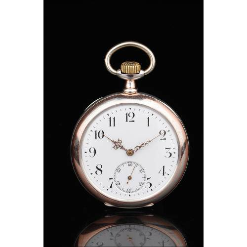 Antiguo Reloj de Bolsillo Zenith de Plata Maciza. Suiza, 1905