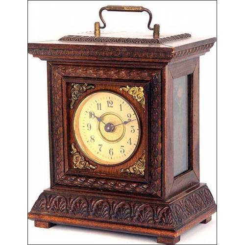 Precioso reloj despertador Junghans. 1900