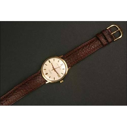 Reloj de pulsera Bucherer. 1965. Oro 14K. Automático