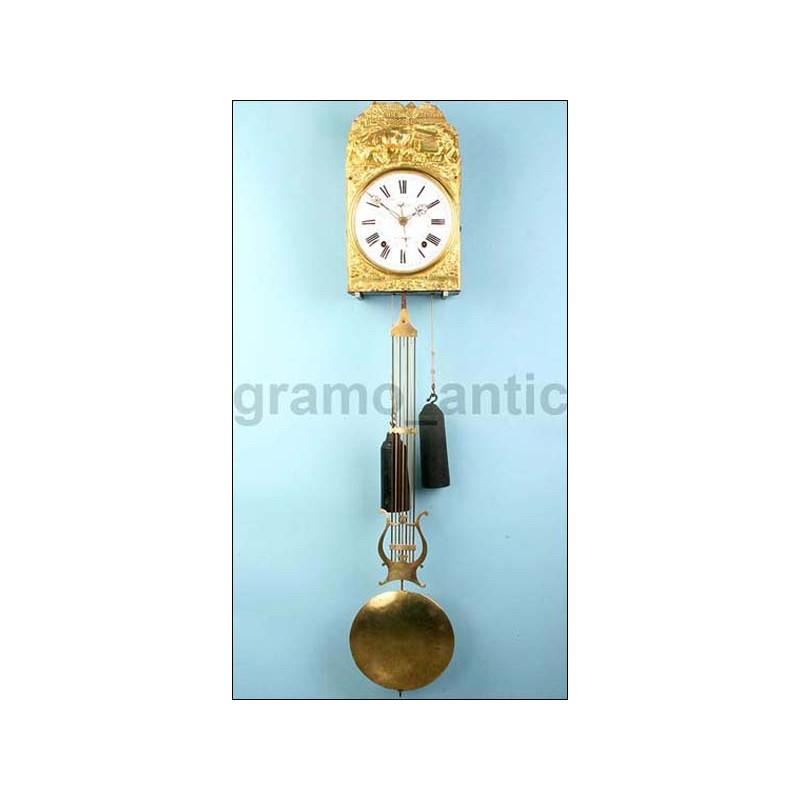 Antiguo reloj Morez con calendario. Firmado. 1880