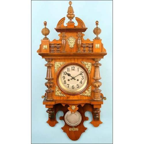 Reloj de pared Gustav Becker. 1890
