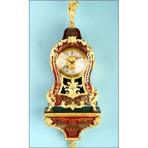 Antiguo reloj alemán en marquetería boulle. Conrad Felsing, Berlin. 1870