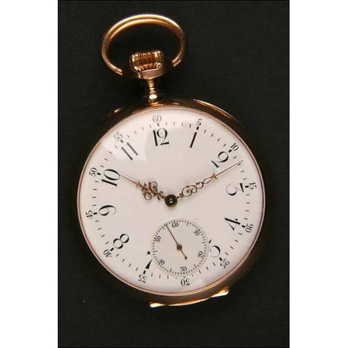 Reloj de bolsillo lepinne en oro macizo. 1890