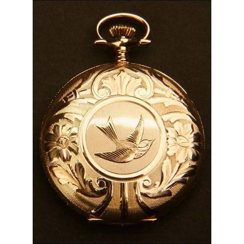 Reloj de bolsillo savonette oro macizo. Circa 1919