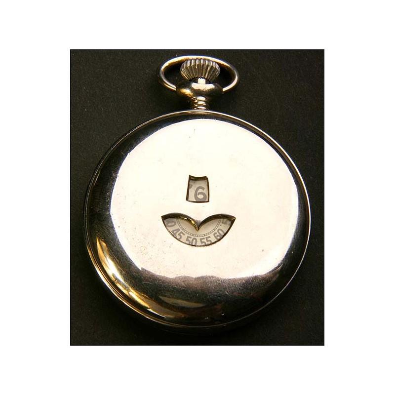 Reloj de bolsillo digital. Circa 1900