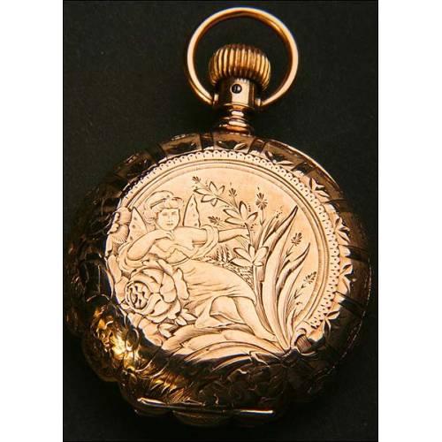 Reloj de bolsillo en Oro macizo de 14K.