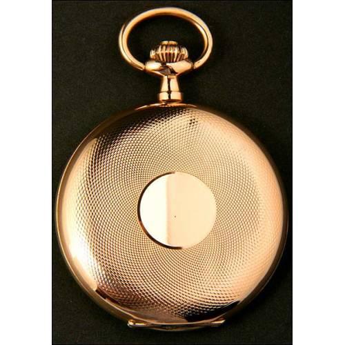 Reloj de bolsillo Eterna en oro macizo de 14K. 1920. 50 mm