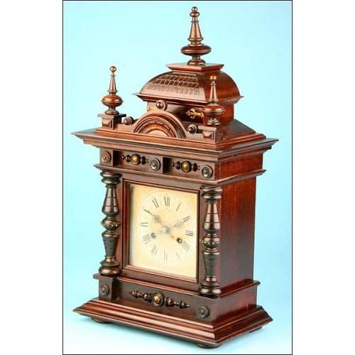 Precioso Reloj de Sobremesa Junghans De Finales del siglo XIX