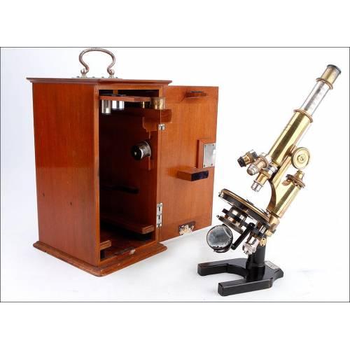 Antiguo Microscopio Otto Himmler Funcionando Muy Bien. Alemania, 1890