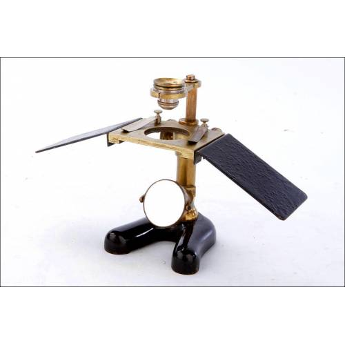 Fascinante Microscopio Antiguo para Disecciones E. Leitz Wetlzar. Alemania, 1900
