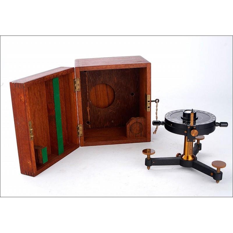 Antiguo Nefoscopio Meteorológico de Espejo J. Barker & Son. Funcionando. Inglaterra, 1910-20