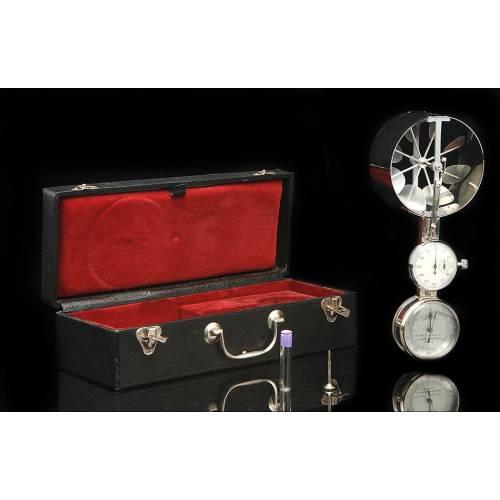 Anemómetro Jules Richard con Cronómetro y en Funcionamiento. Francia, Años 1920-30