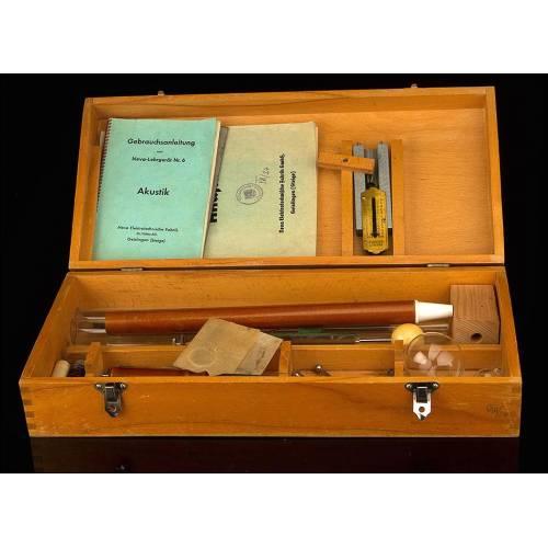 Interesante Set de Instrumentos para Experimentos Acústicos. Alemania, Años 70