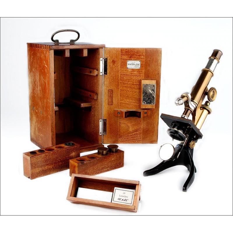 Precioso Microscopio Leitz en Buen Estado de Funcionamiento. Alemania, 1903