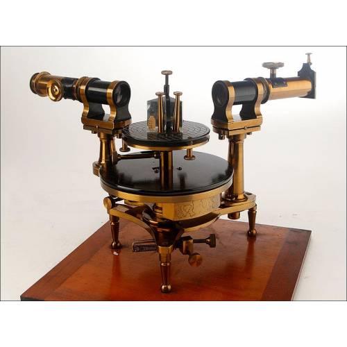Magnífico Espectroscopio Antiguo en Excelente Estado. Inglaterra, Circa 1900