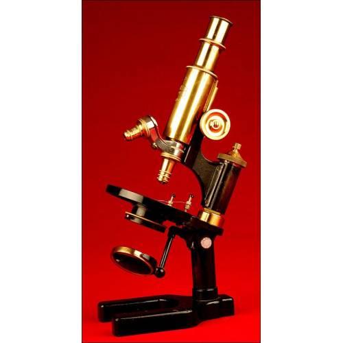 Antiguo Microscopio Alemán Fabricado por Carl Zeiss Jenna, Año 1910